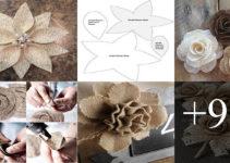Aprende como hacer Flores de Yute a mano con Molde paso a paso