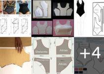 Aprende hacer trajes de baños de una pieza con patrones paso a paso!