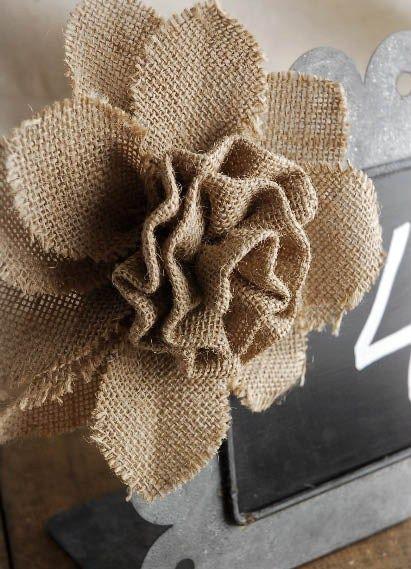 hacer Flores de Yute a mano con Molde
