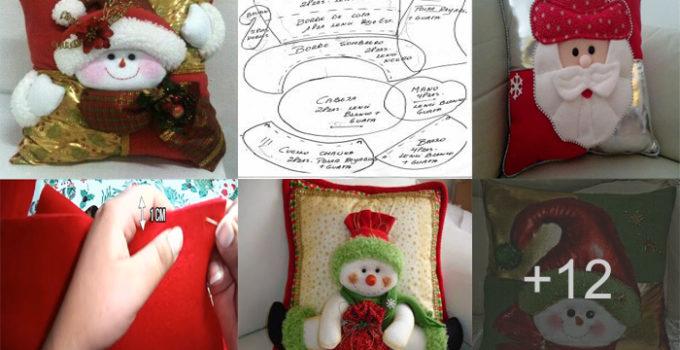 Aprende hacer maravillosos cojines navideños para decorar tu hogar en navidad!