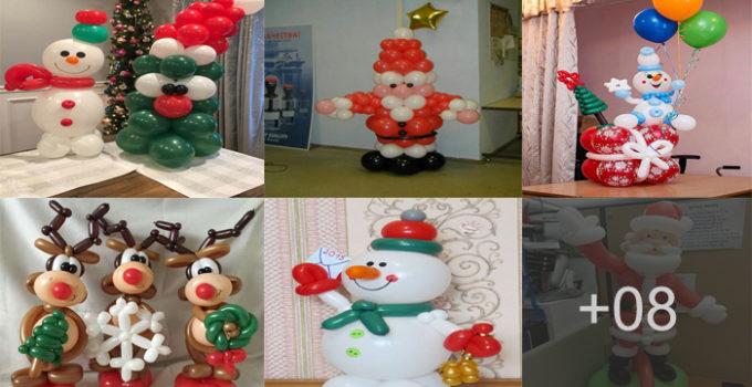 Aprende hacer decoraciones navideñas con globos en figuras!