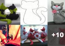 Tutorial: Como hacer cojines hermosos de gatos para tu hogar!