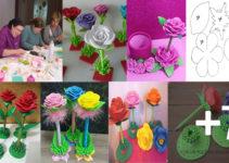Curso de manualidades: Aprende hacer flor de fomy con lapicero