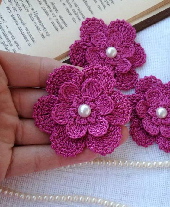Aprende Flores Tejidas Muy Fáciles De Hacer Paso A Paso