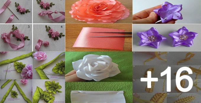 hacer flores de cintas