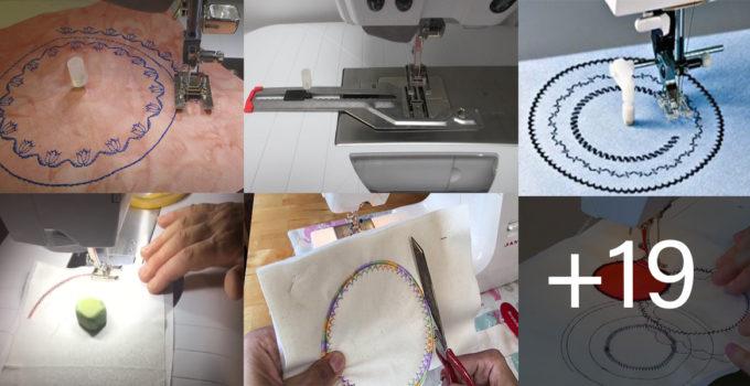 Aprende a bordar en forma circular con la máquina de coser paso a paso