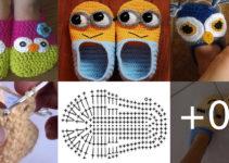 pantuflas de crochet para adultos