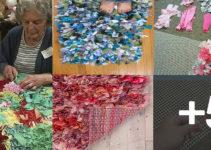 Aprende a como hacer alfombras de nudo con retasos de tela o trapillo paso a paso