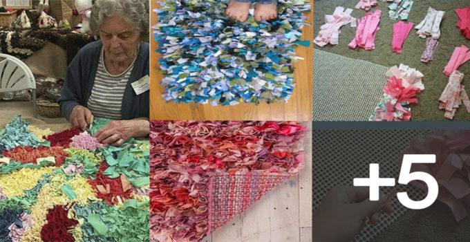 alfombras de nudo con retasos de tela o trapillo