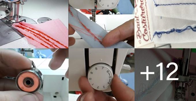 máquina de coser hace nudo abajo y solucionarlo
