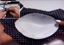 Aprende como forrar una copa de un brasier con patrones!