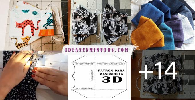 HACER MASCARILLA 3D CON PATRÓN