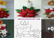 Navidad: Aprende hacer velas navideñas de fieltros con moldes!