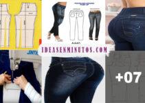 Aprende a confeccionar pantalones jean con patrones