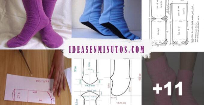 Aprende hacer calcetines de tela con sus patrones