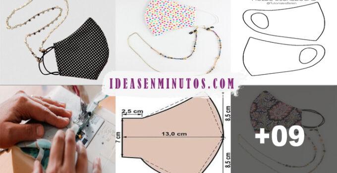 Aprende como hacer tapabocas de tela con colgantes de moda