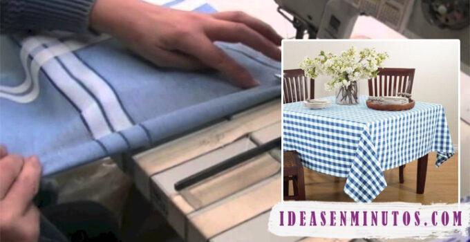 Aprende como hacer mantel de tela para mesa cuadrada con patrones