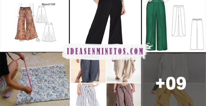 Aprende como hacer pantalones palazzo envolvente con patrones
