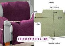 Aprende como confeccionar un hermoso forro para sofa con su patron