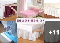Aprende como hacer faldones para cama con patrones