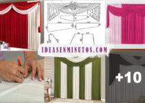 Aprende como hacer grandiosas cortinas drapeadas con patrones