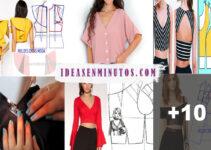 Aprende como hacer blusa crop top con patrones paso a paso
