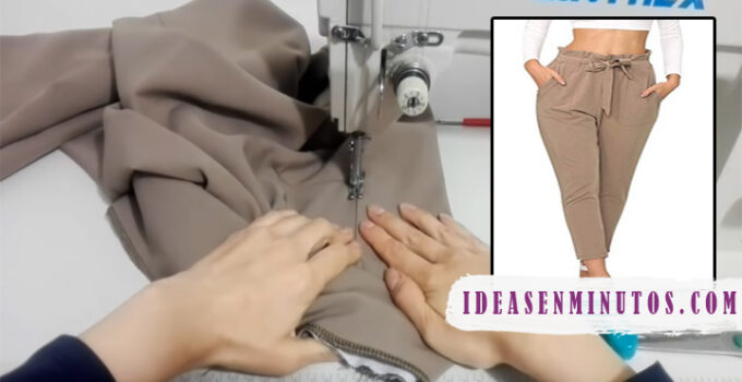 Aprende como hacer pantalon de tela clasico de mujer con patron
