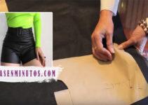 Aprende a como confeccionar shorts de cuerina de moda