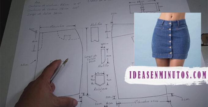 Curso gratis de como hacer faldas jean con patrones