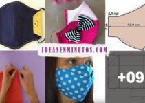 Aprende a como hacer tapabocas impermeable de tela con patron