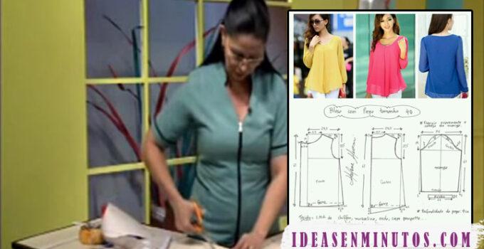 Aprende como hacer blusa sin manga con su patron paso a paso
