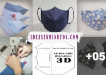 Curso gratis de como hacer tapabocas con forma en 3D