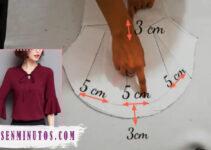 Aprende a como confeccionar hermosa blusa manga larga