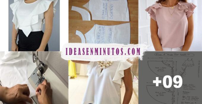 Aprende a como hacer blusa con vuelo de moda con patron