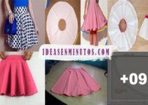 Aprende a como trazar patron de falda circular paso a paso