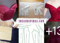 Aprende como confeccionar Top sin hombros de vestodos