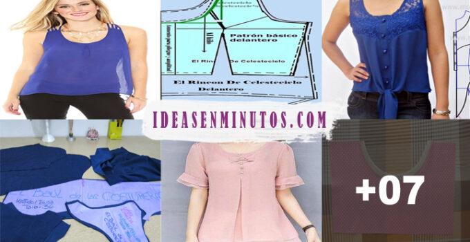 Aprende a como confeccionar blusa cuello redondo con patron