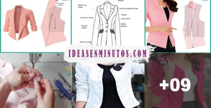 Aprende a como confeccionar hermosa chaqueta de mujer con patron