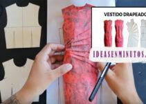 Aprende a como confeccionar vestido drapeado con patron