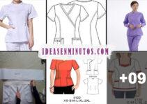 Aprende a como confeccionar uniforme de enfermeria con patron