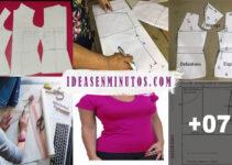 Aprende a como transformar patron base de blusa paso a paso