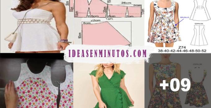 Aprende a como confeccionar hermoso vestido corto de verano