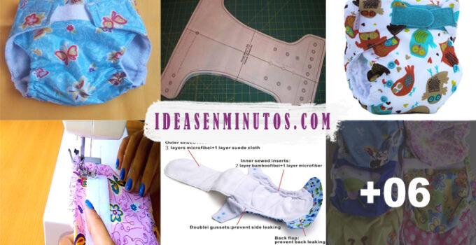 Aprende a como hacer pañales ecologicos de tela con patron
