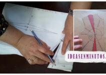 Aprende a como trazar o coser pinza de un busto de blusa