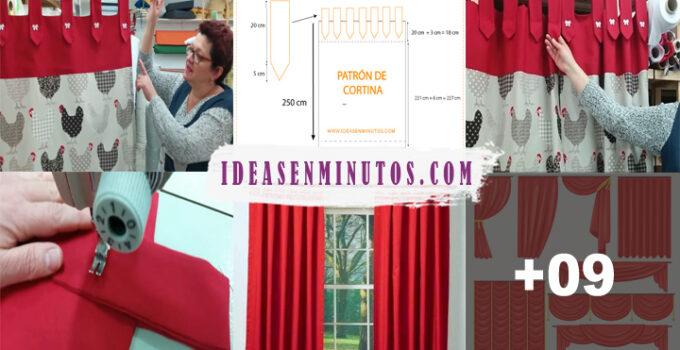 Aprende a confeccionar una hermosa cortina con trabilla