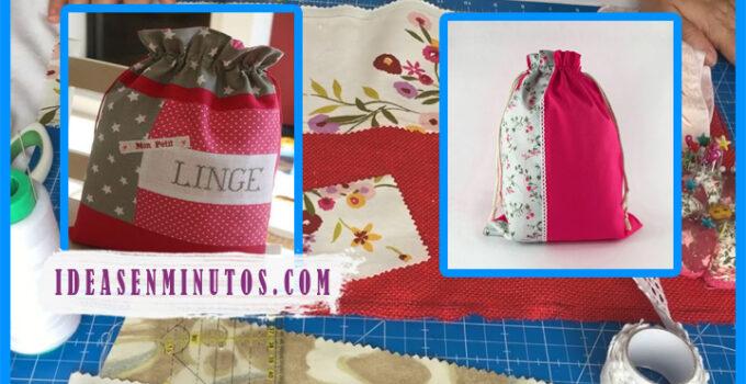 Aprende a como hacer hermosos bolso para ropa interior