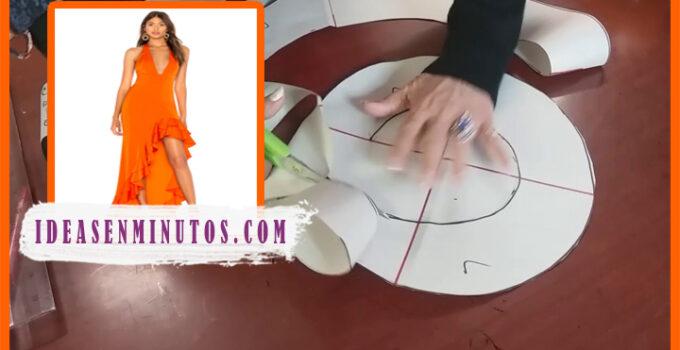 Aprende a como confeccionar un vestido con olanes